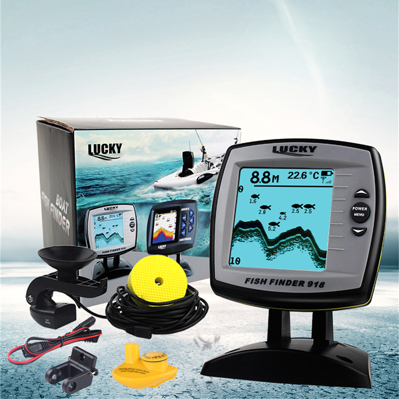 Lucky fish finder ff918 180w 2 in 1 wired and wireless for Lucky fish finder