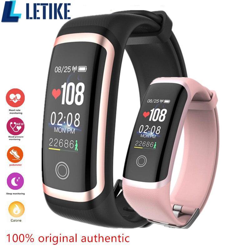 Letike M4 фитнес новейший чип Nrf52832 часы в режиме реального времени динамический пульс и монитор артериального давления Смарт Браслет