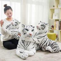 1PC Nette Weiß 30/40/45/57/72/82CM Tigers Plüsch Spielzeug Simulation tigers Gefüllte Puppen Baby Kissen Plüsch Kinder Geburtstag Geschenk