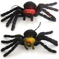 Tricky Toy Scary Spider Emulsion for Halloween Party Soft Stretchy Hanging Decoration Pendant Accessories Free Shipping