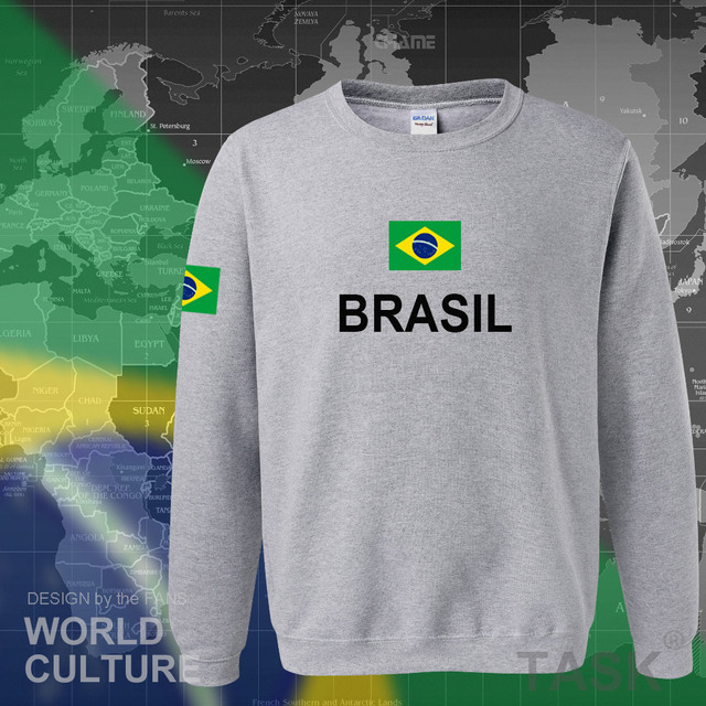 Brazil hoodie men sweatshirt sweat new streetwear 2017 tops jerseys clothing tracksuit nation Brazilian flag Brasil fleece BR 5