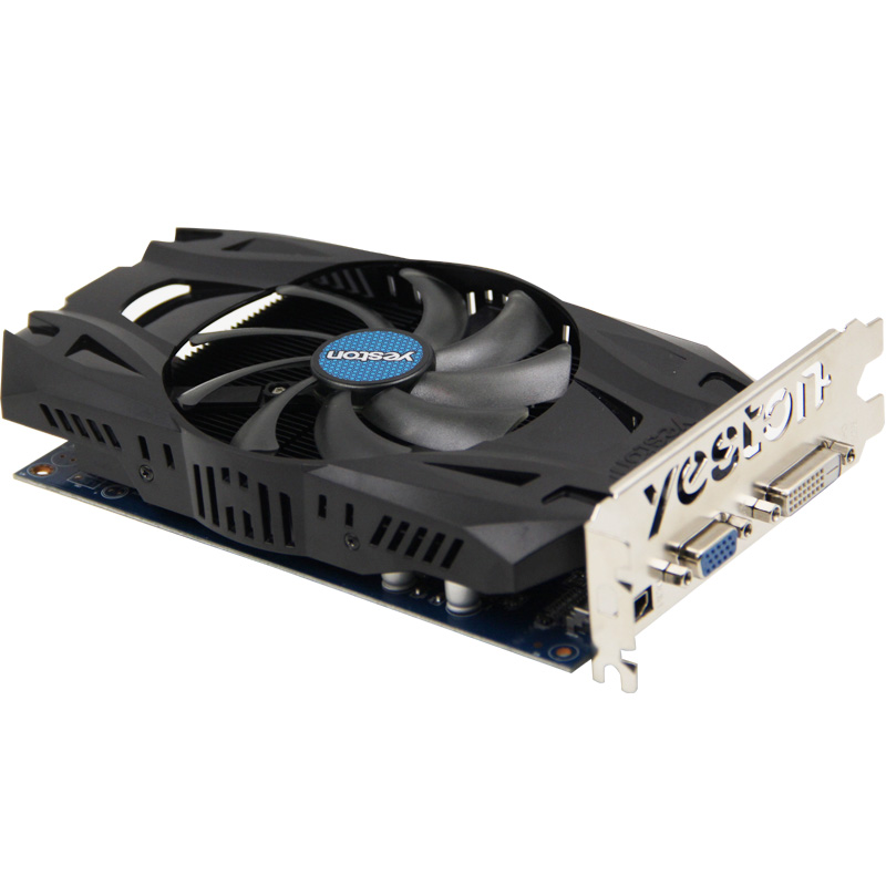 Yeston ExSpeed R7 350 4G video card graphics card for desktop 4G GDDR5 128bit HDMI+VGA+DVI support 4K output 2 years warranty