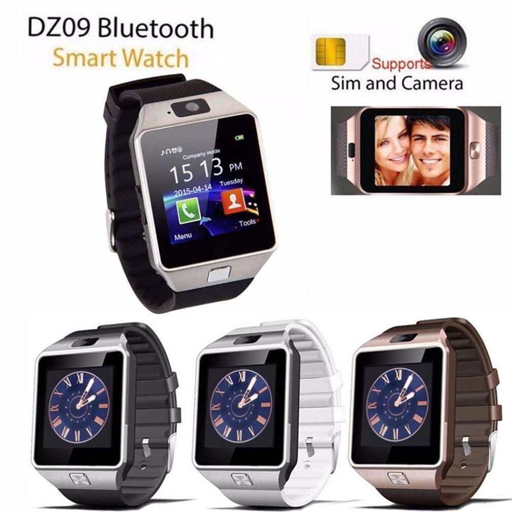 Bluetooth smart watch relógio de Pulso Inteligente Câmera Do Telefone Da Sustentação TF SIM GSM para Android iOS Telefone dz09 pk gt08 a1 homens e mulheres