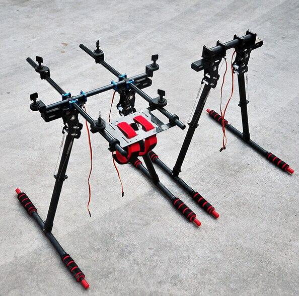 HML850 Carbon Fiber Folding Retractable Landing Gear Skid Legs for S800/ S800 EVO/ Tarot T810/T960 Hexa copter Multi rotor