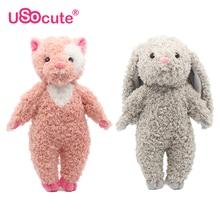 Kawaii Animal fyllda plysch leksaker för barn tjejer 35cm panda / kanin dockor baby barn leksaker peluche brinquedos pelucia juguetes