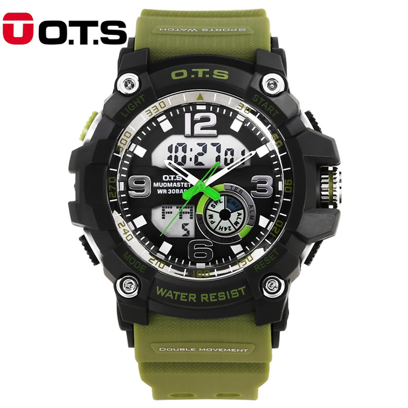 Men Watches OTS Brand LED Military Digital Watch Male Sports Watches Waterproof Swimming Outdoor Casual Wristwatch Reloj Hombre