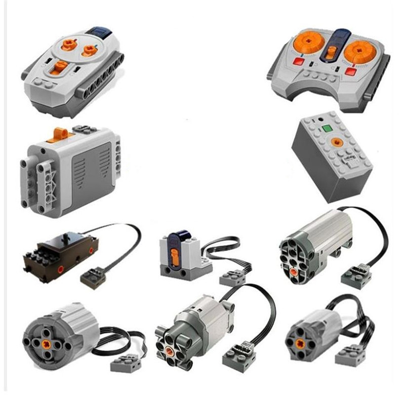 In Stock legoingly Train Technic Series Power Motor Rechargeable Battery Box IR Remote Receiver LED Light building block brick r162221420 block new in box in stock