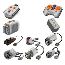 In Stock legoingly Train Technic Series Power Motor Rechargeable Battery Box IR Remote Receiver LED Light building block brick