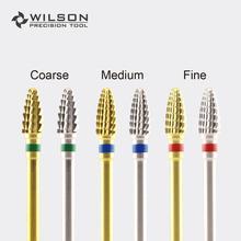 Mini Cone - Gold/Silver WILSON Carbide Nail Drill Bits Electric Manicure & Accessory
