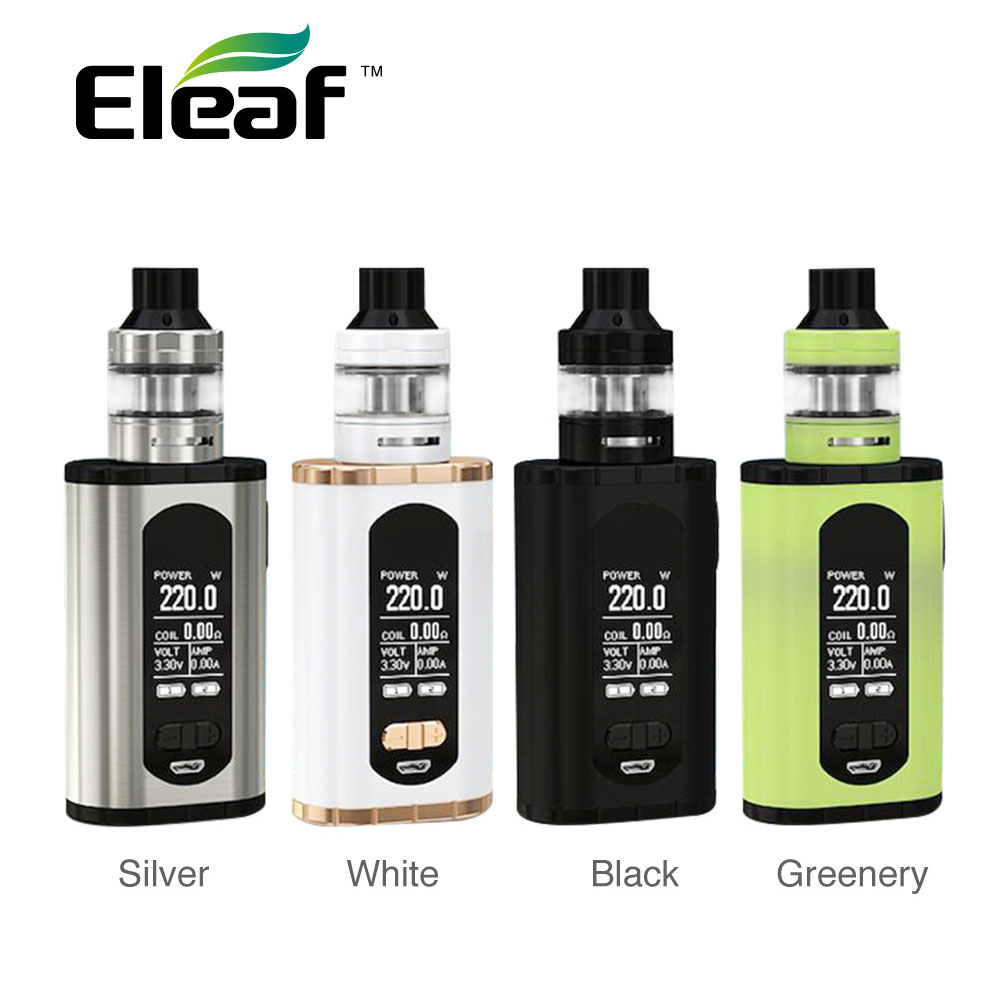 Hot Original Eleaf Invoke 220W With Ello T TC Kit With 2ml/4ml Ello T Tank Power By Dual 18650 Battery Vape Kit Vs IKuun I200