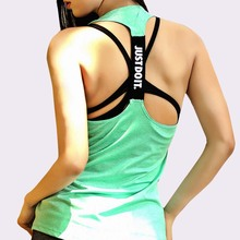 Women Sleeveless Fitness Vest Exercise Workout Sports T-Shir