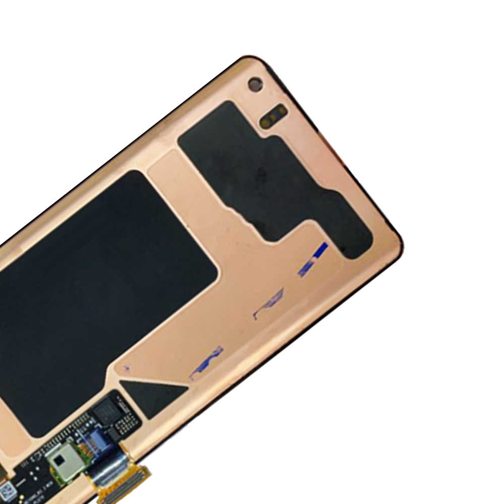 الأصلي AMOLED استبدال شاشات lcd لسامسونج غالاكسي S10 G9730F عرض S10 2019 SM-G9730 محول الأرقام بشاشة تعمل بلمس مع الإطار