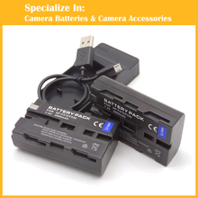 NP-F550 NP-F570 Digital Substitute Digital camera 2 x Battery + charger for Sony