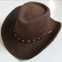 LIHUA бренд котелок из шерсти шляпа ковбой моды Watherproof Конный шлем. Женские вечерние Модные мужские черные коричневые регулируемые шляпы