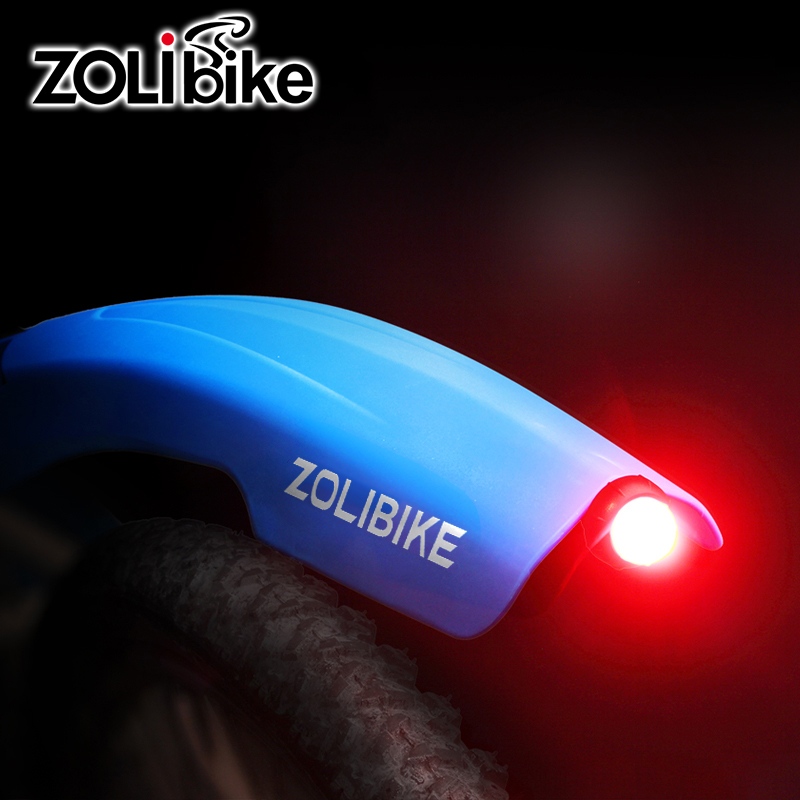 ZOLibike Bicycle <font><b>Fenders</b></font> Taillight Cycling Mountain Bike Parts Accessories Defeat Marsh <font><b>Fenders</b></font> Light Front Rear Mudguard Set