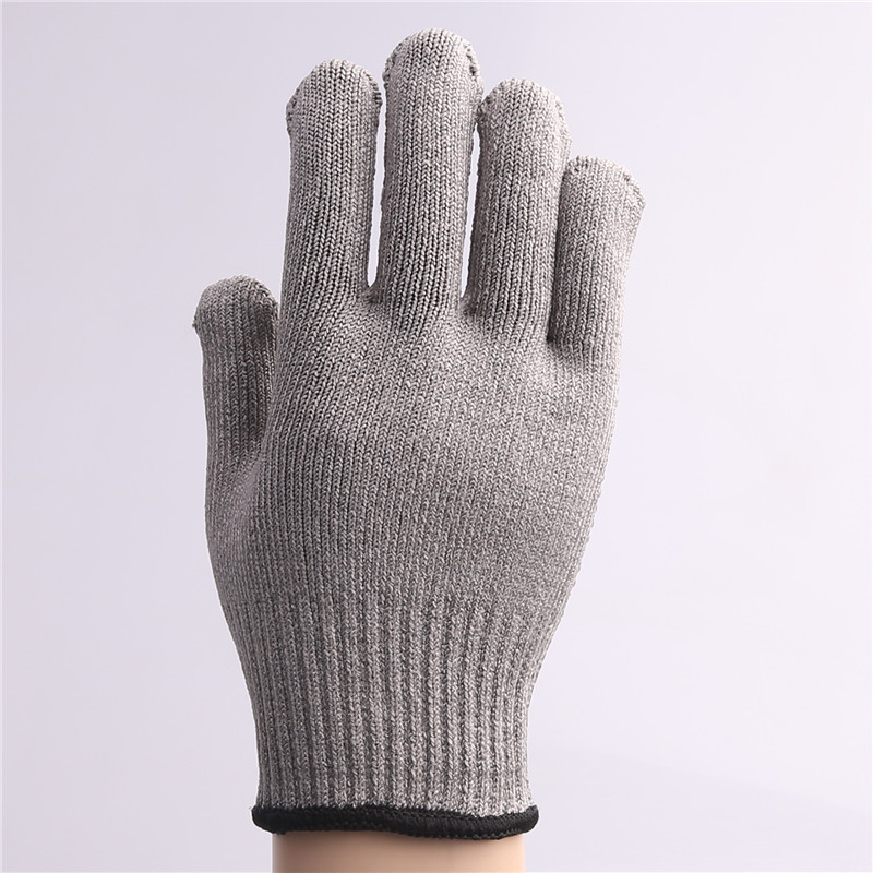 Defence heavy goods thick reinforced five protective cut-resistant gloves hot thick reinforced aluminum magnesium