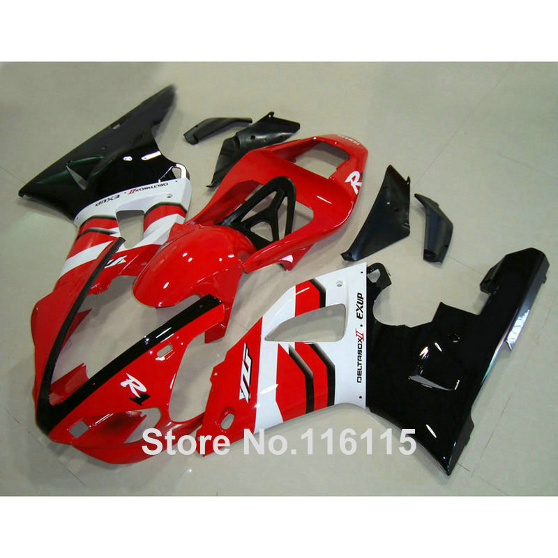 Injection molding fit for YAMAHA YZF R1 2000 2001 white red black ABS customize fairing kit YZF-R1 00 01 fairings set GL75 hot sales yzf600 r6 08 14 set for yamaha r6 fairing kit 2008 2014 red and white bodywork fairings injection molding
