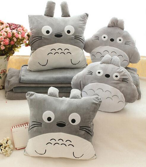 candice guo! super cute plush toy square round Totoro soft cushion nap pillow hand warmer blanket birthday Christmas gift 1pc letter word printing soft plush square pillow case