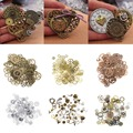 Steampunk Vintage Metal Mixed Gears Cog Wheel Charms Pendant Sets DIY Jewelry Accessories #226389