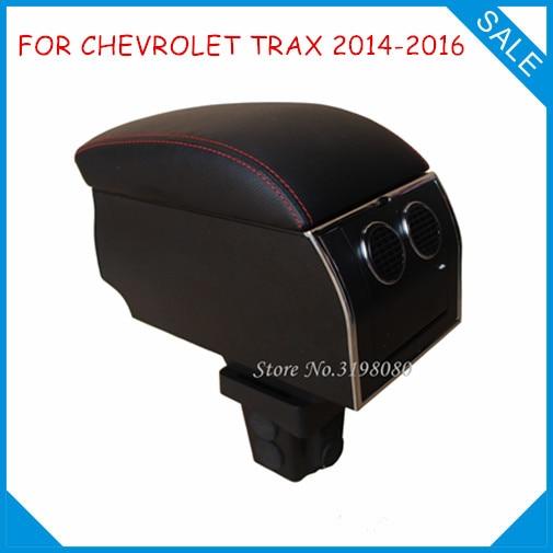 цена на 8pcs USB Armrest FOR CHEVROLET TRAX 2014-2016,Car center arm rest console box with hidden cup holder Car Accessories Auto Parts