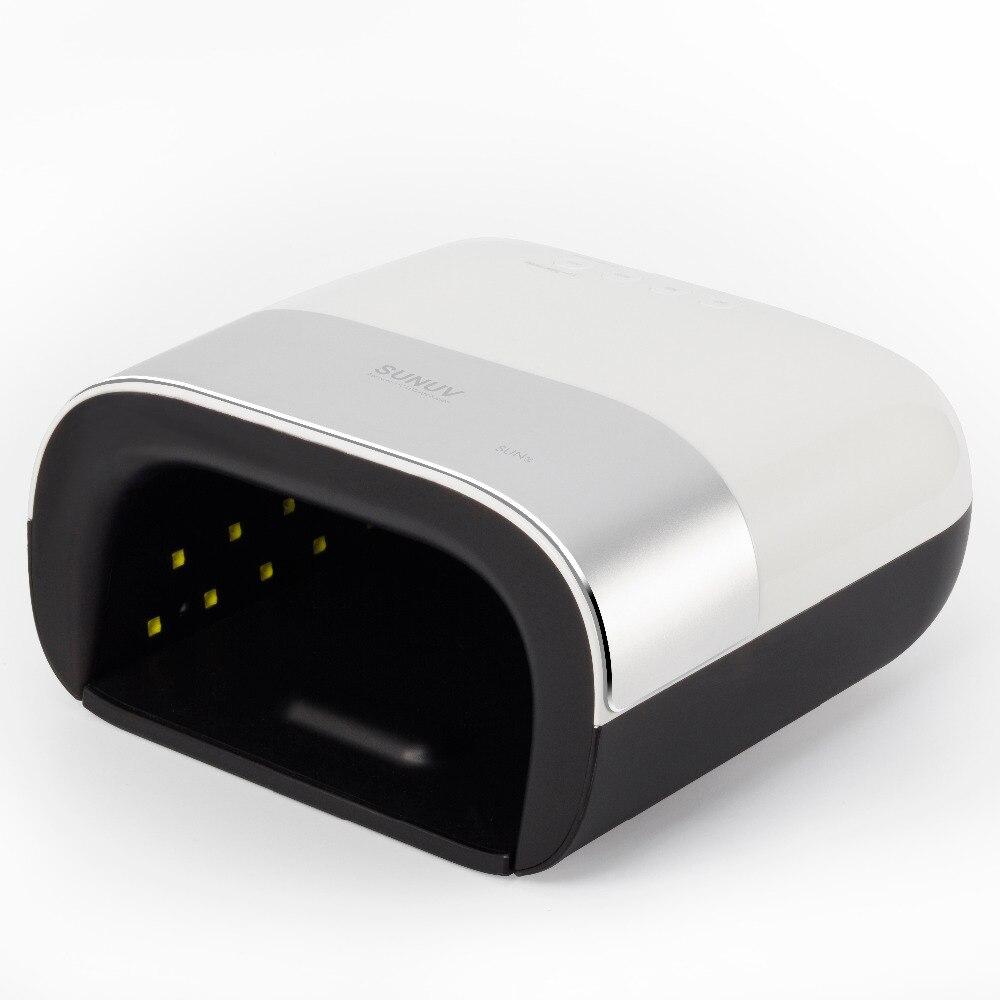 SUNUV SUN3 séchoir d'ongles Smart 2.0 48 W UV lampe à led Nail avec minuterie intelligente Mémoire Invisible minuterie numérique Affichage Nail sèche-linge - 3