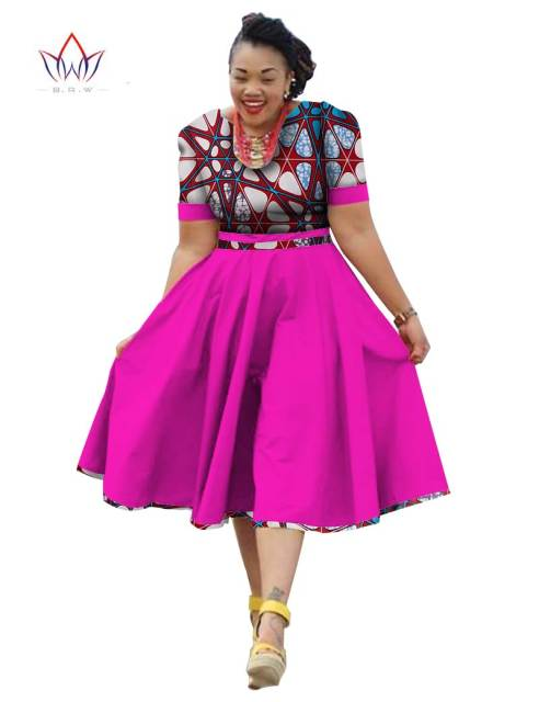 Online Shop Plus Size Clothing 2018 summer Dress African Print ...