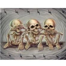 Diy Алмазная картина Череп Значок 5d алмазная вышивка искусство
