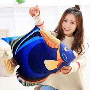Image 3 - 3D Simulação Oceano Peixes Tropicais Abraço Travesseiro Almofada Brinquedo de Pelúcia Dos Desenhos Animados Travesseiro Tartaruga Decoração de Casa de Boneca Criança Presente de Aniversário