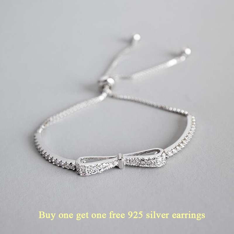 Ruifan Fashion Box Chain Bowknot 100% 925 Sterling Silver Bracelet Ladies Cubic Zircon Bracelets Female Women Jewelry YBR057-in Bracelets & Bangles from Jewelry & Accessories on Aliexpress.com | Alibaba Group