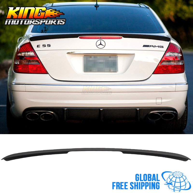 for 03 09 mercedes benz w211 e class rear trunk spoiler. Black Bedroom Furniture Sets. Home Design Ideas