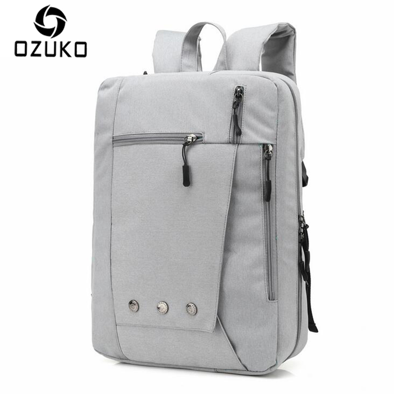 OZUKO Multifunction Shoulder Bag Men Backpacks Fashion Business Laptop Bags Waterproof Travel Mochila Male Schoolbags Teenager shivaki shap 3010r