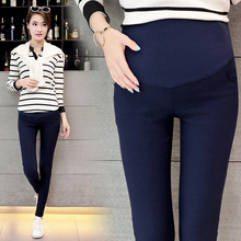 Spring Belly Skinny Maternity Legging in Elastic Cotton Adjustable Waist Pencil Pregnancy Pants Clothes for Pregnant