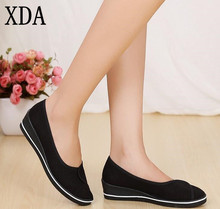 XDA 2017 new casual women work shoes women loafers white and black 35-40 Free shipping A033