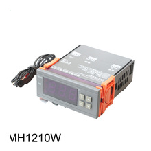 цена на 1PCS Digital Temperature Controller MH1210W 90-250V 10A 220V Thermostat Regulator with Sensor -50~110C Heating Cooling Control