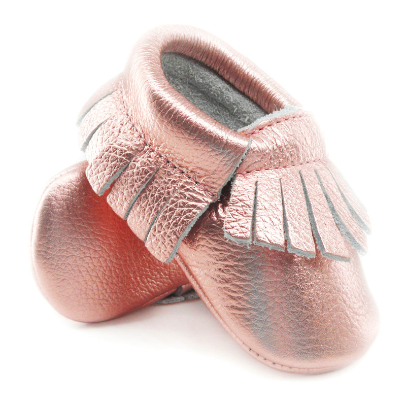 16color-New-Shine-Pink-Genuine-Leather-Baby-moccasins-First-Walkers-Soft-Rose-gold-Baby-girl-shoes-infant-Fringe-Shoes-0-30month-3