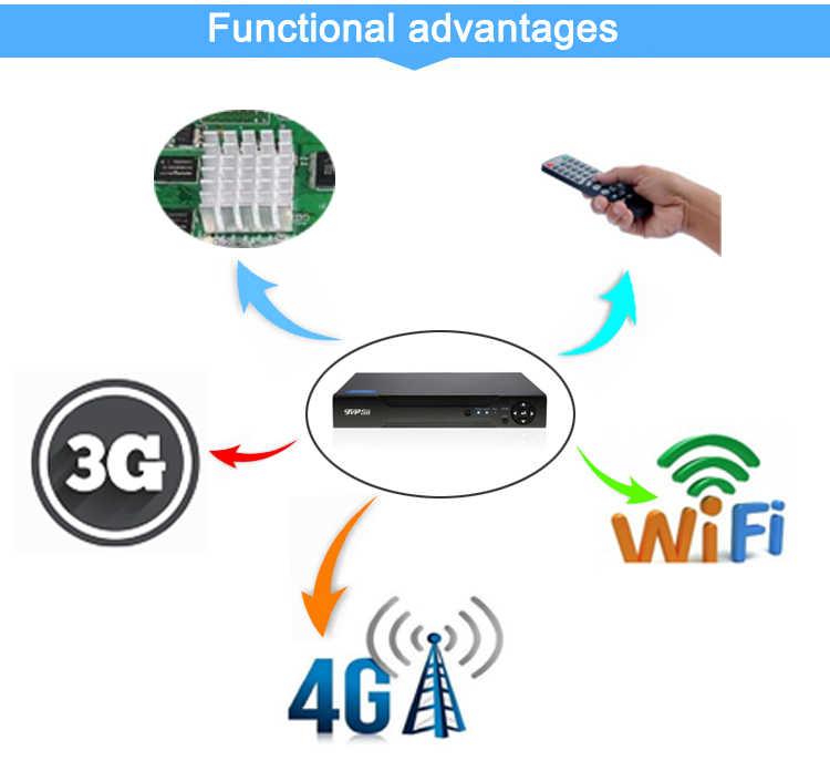 Hi3536C XMeye الفضة لوحة مسجل فيديو 8MP 4K 8CH 8 قناة واحدة SATA الصوت واي فاي Onvif IP كاميرا CCTV NVR شحن مجاني