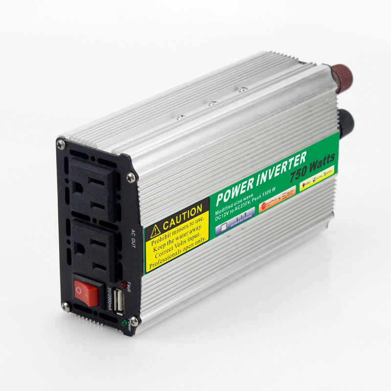 1pcs 750W Mini Size Car Power Inverter Converter DC 24V to AC 110V or 220V Modified Sine Wave Power Solar inverters solar power on grid tie mini 300w inverter with mppt funciton dc 10 8 30v input to ac output no extra shipping fee