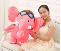 big size pink plush elephant toy cute cartoon flying elephant doll gift about 75cm