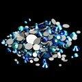 Não Hotfix Strass De Vidro 1440 pcs ss6 1.9-2.1mm Jet AB Soltas Diamantes de Cristal Para Unhas 3D Arte Diy Scrapbooking Decoração