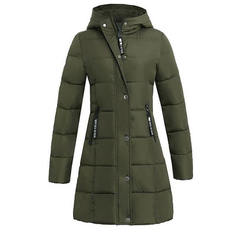 Hooded Parka Women 2017 New Winter Coats Jackets Parkas Long Slim Thickening Warm Coat Jacket Female Outerwear Black PW1034
