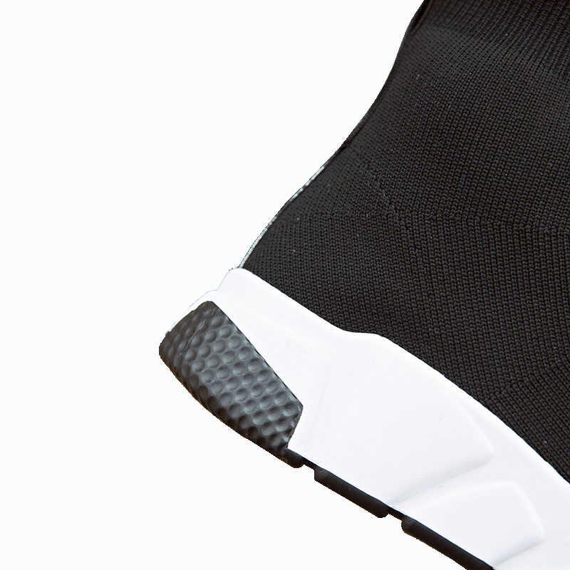 Aphixta Schuhe Frauen Höhe Zunehmende Ankle Stiefel Spitz Stoff Slip-On Damen Mujer Sping Schnee L Mode Frau schuhe