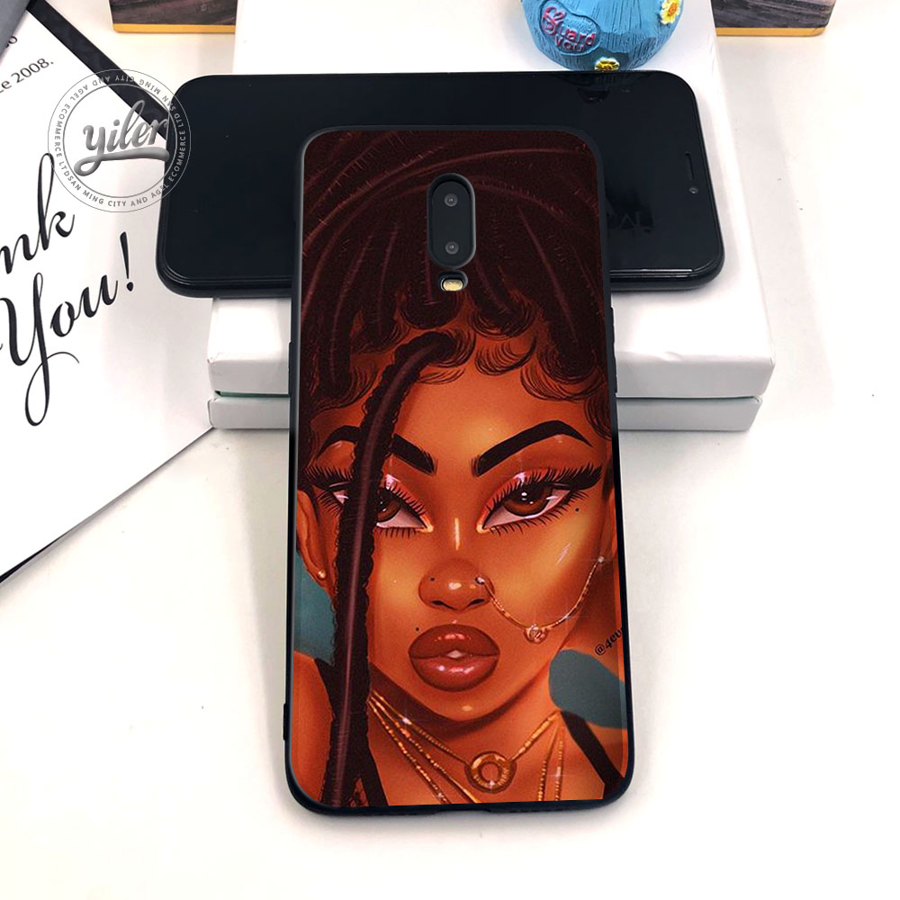 Image 3 - Black Girls for Case Oneplus 6T Phone Cover Black Soft TPU Case for Oneplus 7 Caseing Black Girls for Casing Oneplus 6T Cover-in Fitted Cases from Cellphones & Telecommunications