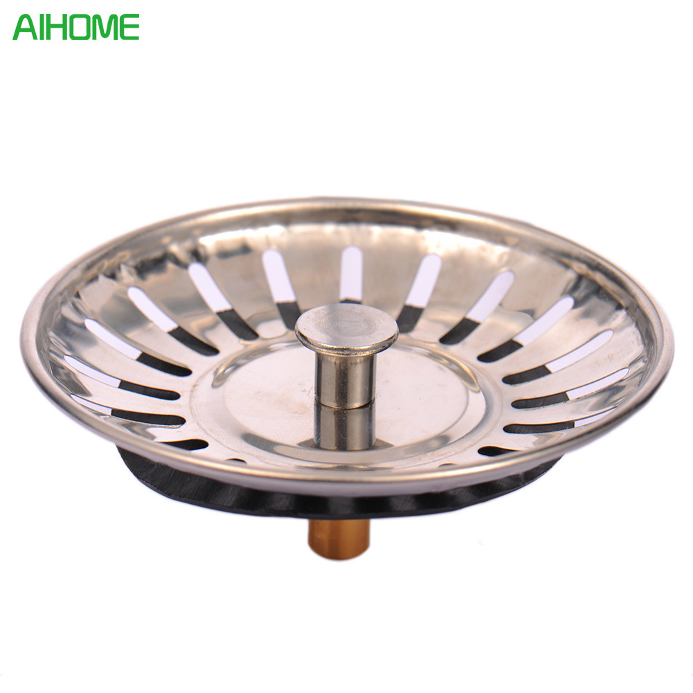 Bathroom Sink Drain Plug Repair: 1pc Stainless Steel Kitchen Sink Strainer Stopper Waste