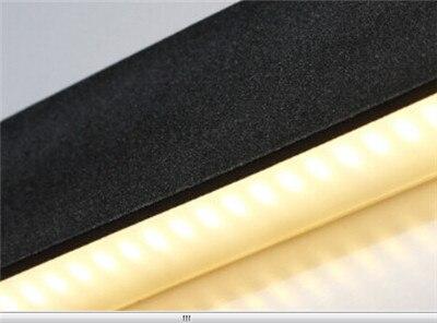 Lange Spiegel Zwart : Lange aluminium led wandlamp zwart wit woonkamer bed room badkamer