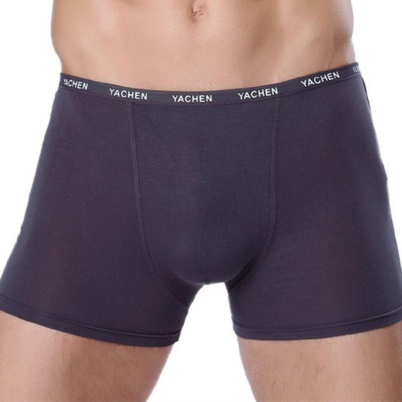 Men Sexy Boxer Soft Breathable Underwear Male Comfortable Solid Panties Underpants Cueca Homme   Boxer Shorts 1piece