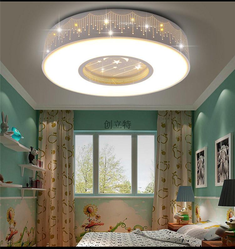 Children room star Ceiling lamps round ceiling led Boy Girl Bedroom lamp room lights and reduced Ceiling Lights lovely ZA ET4