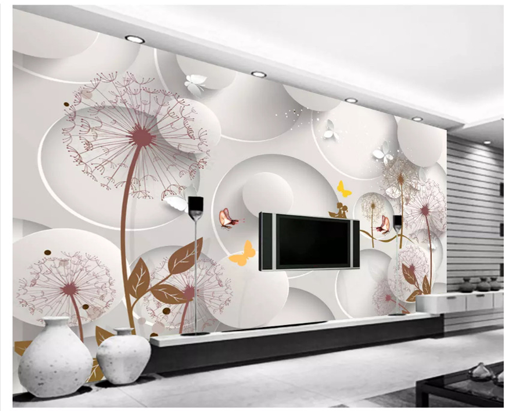 beibehang Custom fashion decorative painting 3d wallpaper 3D simple TV background European retro mural wall papers home decor beibehang custom 3d wallpapers hand painted retro nostalgic abstract oil painting flowers landscape european style wallpaper