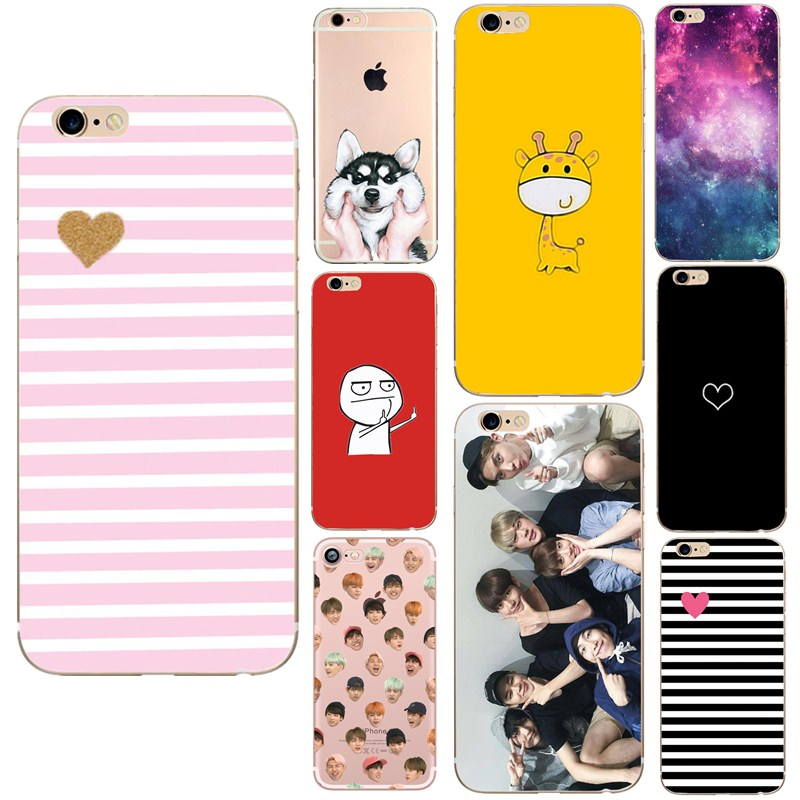 Cellphones & Telecommunications Fitted Cases Silicone Phone Cover Case For Iphone 6 Sunflower Soft Tpu Bts Sky Heart Love Funny Coque Funda For Iphone 7 Plus 8 5 Se 5s 6s X