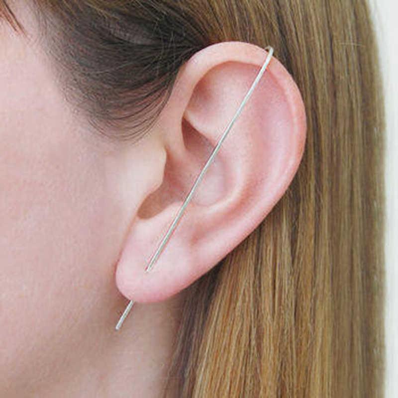 Jewelry Earrings Brinco Handmade Simple Unilateral Dual-Use Long Ear Pin Minimalist Vintage Jewelry Oorbellen Earring for Women