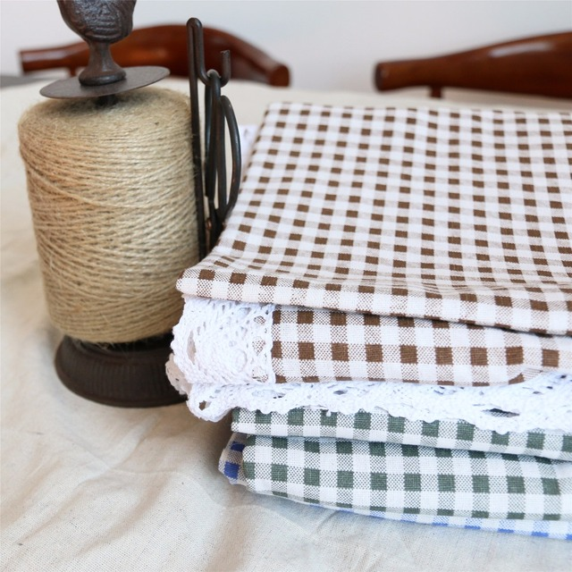 Little Squares Tablecloth – Cotton Linen and Lace
